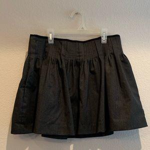Armani Exchange Charcoal Gray Skater Skirt